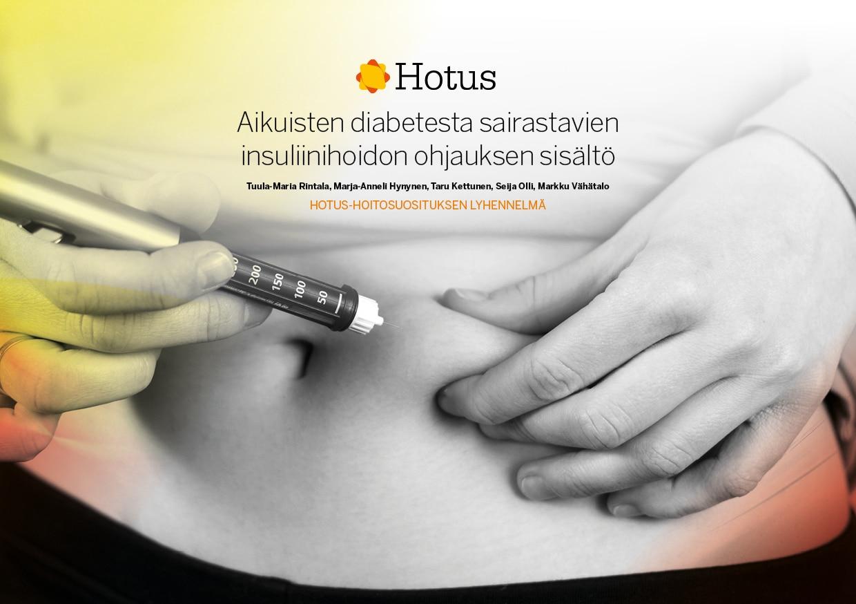 Hotus-hoitosuositus lyhennelmän kansi: Diabetes omahoito
